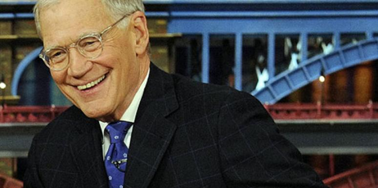 David Letterman on the set of 'The Late Show With David Letterman,' from which he will retire in 2015