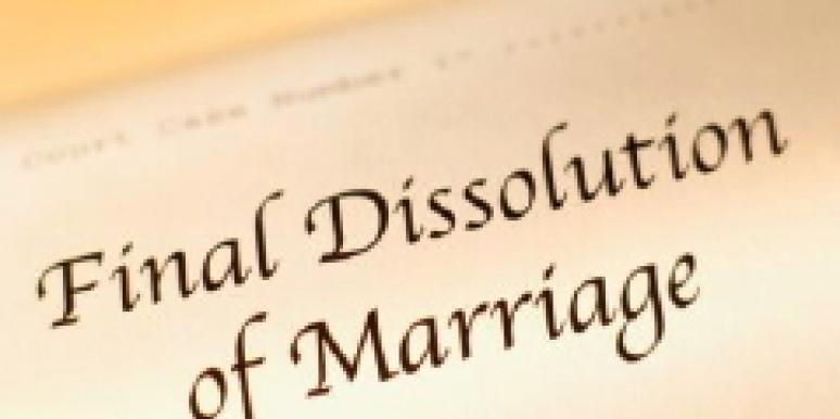 Final dissolution of marriage
