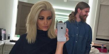 Kim Kardashian blonde hair Instagram