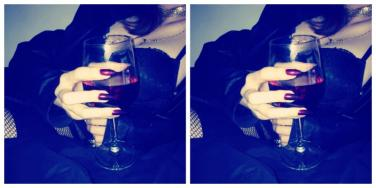 woman drinking red wine, an aphrodisiac