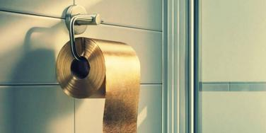 golden toilet paper