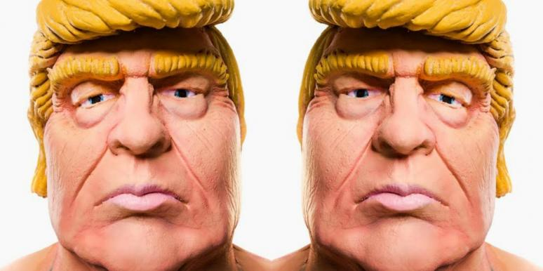 naked trump statue micropenis