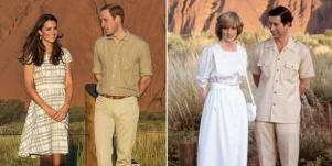 Kate-Middleton and Prince William; Princess Diana and Prince Charles