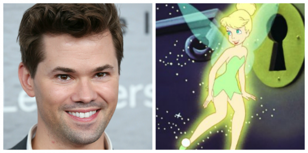Andrew Rannells and Tinkerbell - <i>Walter McBride/Getty Images & Disney</i>