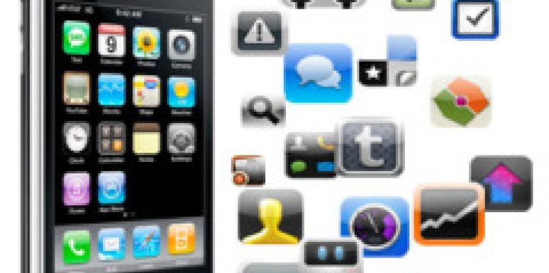 iphone with many applications apps