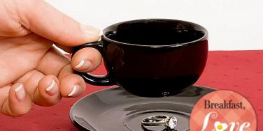 coffee cup engagement ring