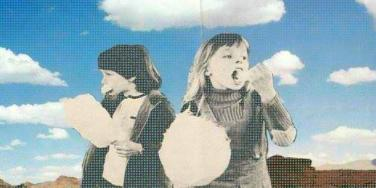 kids eating clouds