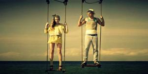 couple swinging