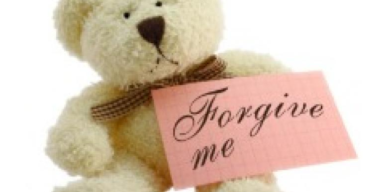 Forgive me teddy bear