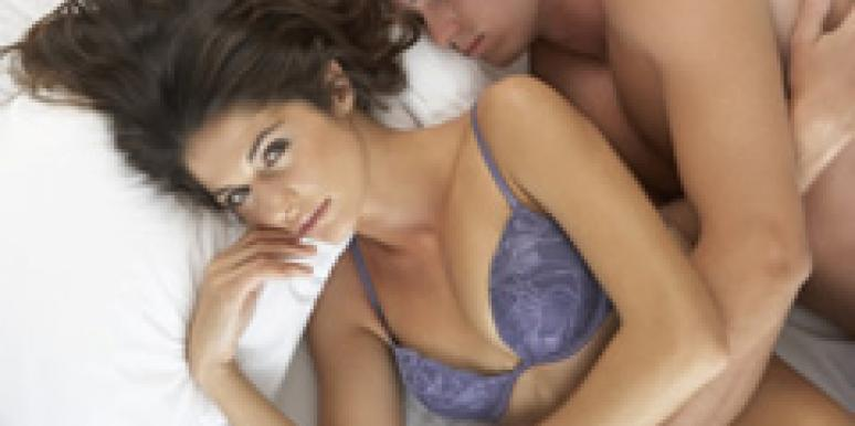 woman and man in bed