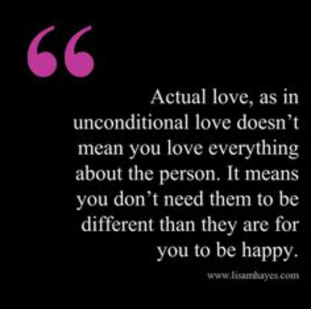 What does it mean to love someone unconditionally