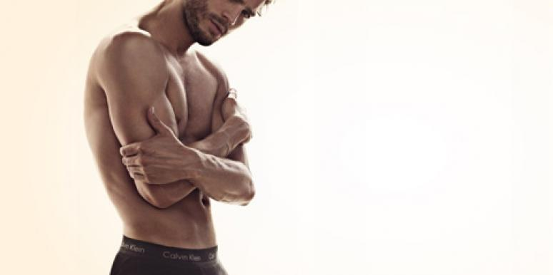 Jamie Dornan, who stars as Christian Grey in '50 Shades Of Grey,' posing shirtless in an underwear ad