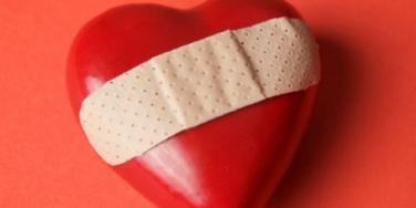 broken heart bandaid