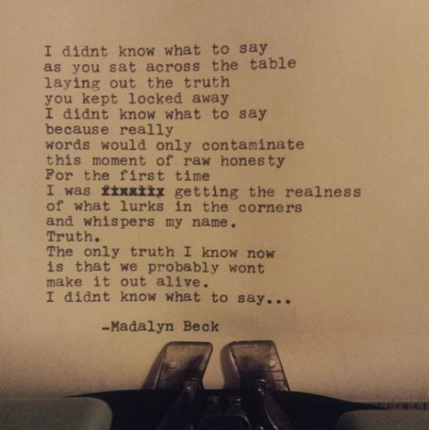 Madalyn Beck Poetry Instagram Quotes On Love