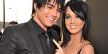 Adam Lambert and Katy Perry