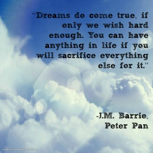 Peter Pan fairy tale inspirational quotes