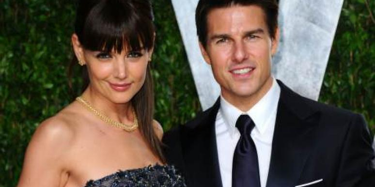 Katie Holmes and Tom Cruise 2012 Vanity Fair Oscars