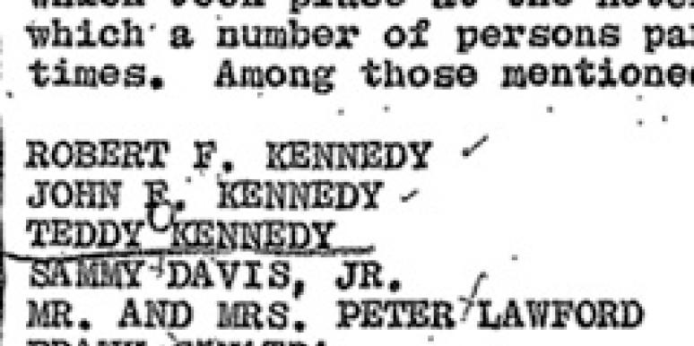 FBI Memo Details Kennedy Brothers Sex Parties
