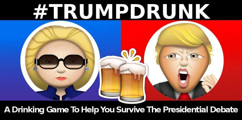 trump hillary drinking game debate