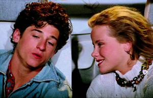 """Patrick Dempsey and Amanda Peterson in """"Can't Buy Me Love"""""""