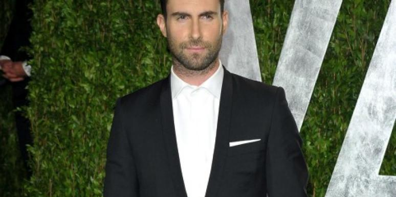 Adam Levine at vanity fair oscars party