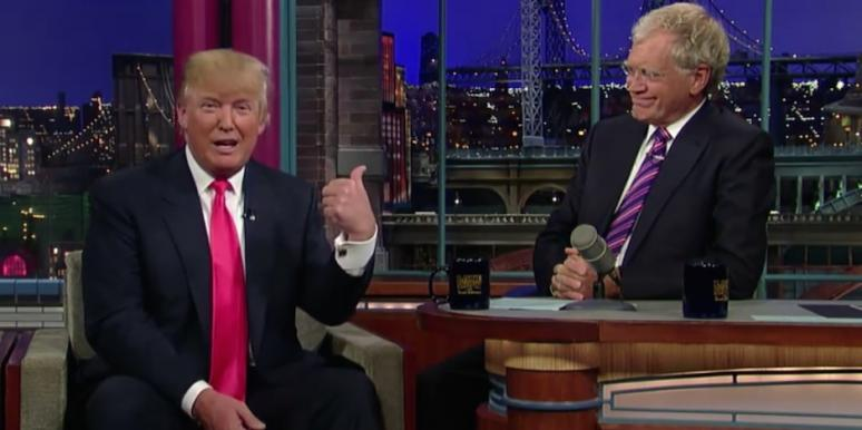 Donald Trump and David Letterman from The Late Show