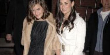 Tallulah Willis and Demi Moore