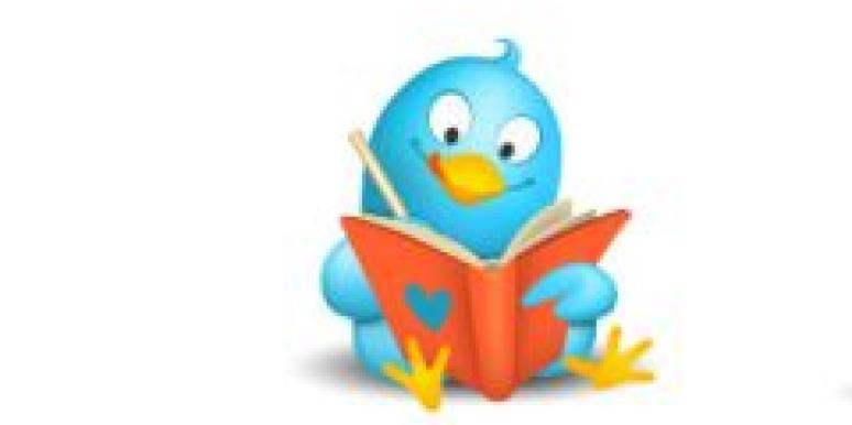 twitter bird taking notes