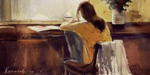 girl at cafe