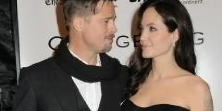 Brad Pitt Cozying Up to Co-Star?