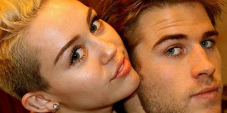 Miley Cyrus and Liam Hemsworth shortly before announcing their 2013 breakup
