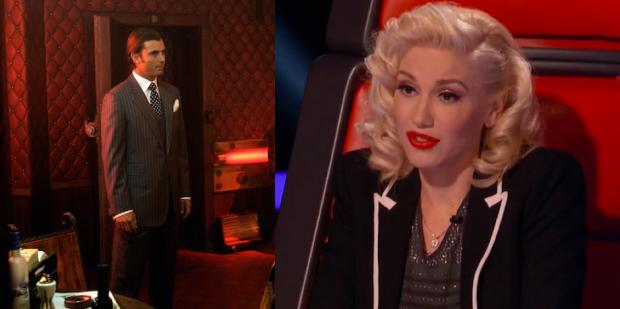 Gavin Rossdale from Constantine and Gwen Stefani from The Voice