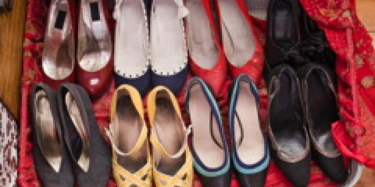suitcase full of womens shoes