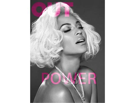 Beyonce Topless for Out Magazine