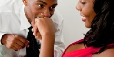 african american couple woman engaged engagement