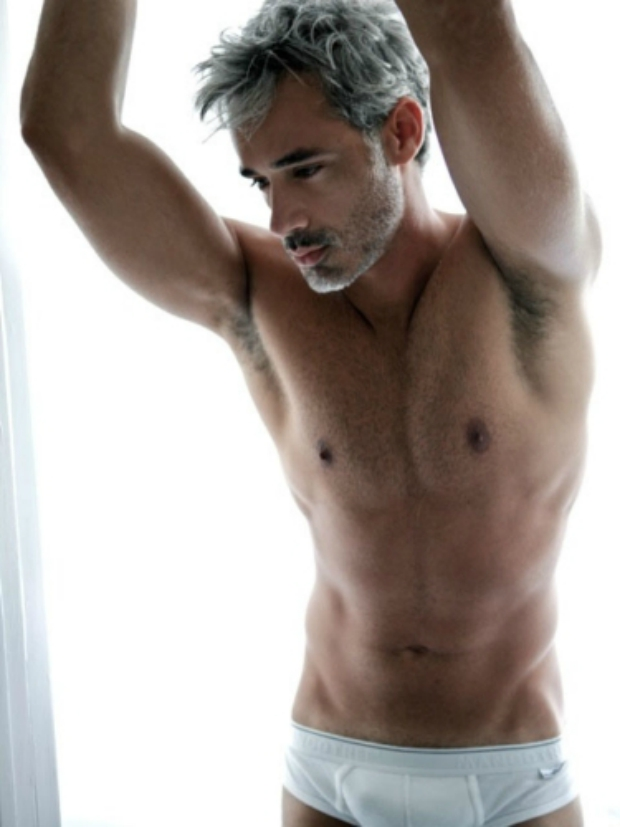 Grey haired men nude