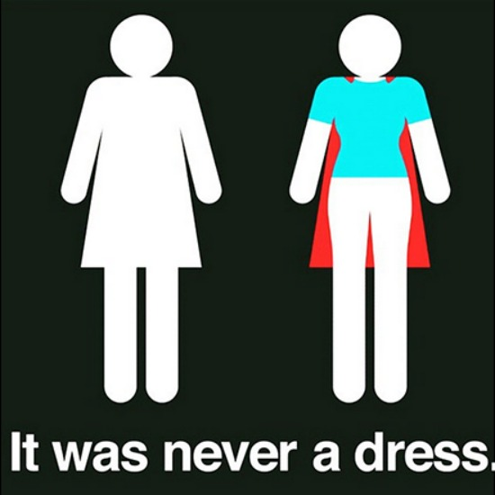 it was never a dress inspirational quote