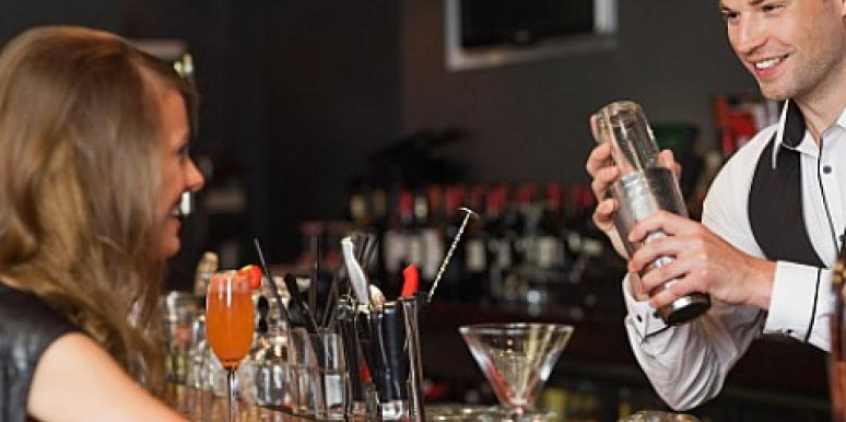 bartender and woman