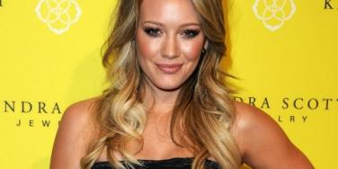 Hilary Duff yellow wall