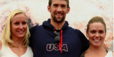Michael Phelps and swim team girls