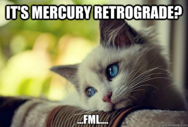 mercury retrograde meme
