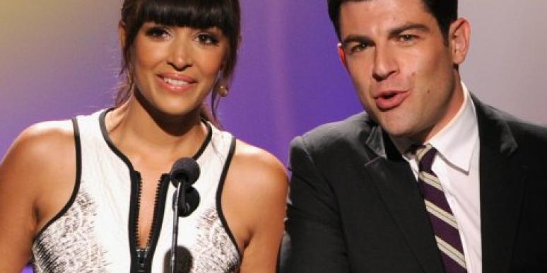 Hannah Simone and Max Greenfield
