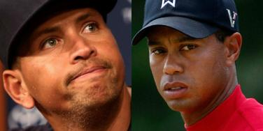 Alex Rodriguez and Tiger Woods