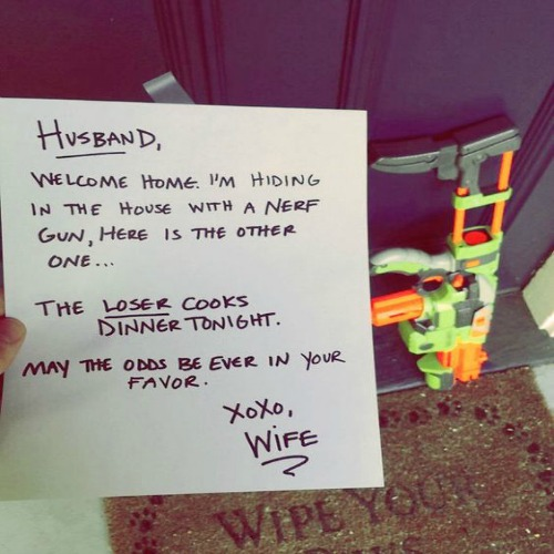 Nerf marriage love couple