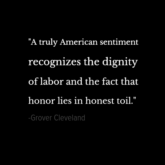 Grover Cleveland inspirational president quotes