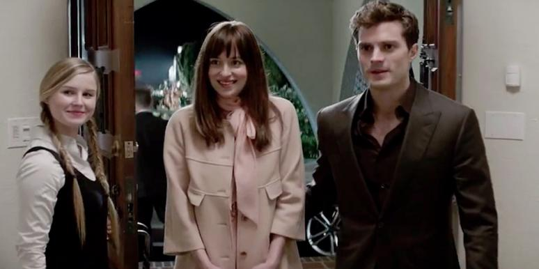 Dakota Johnson and Jamie Dornan as Ana Steele and Christian Grey from Fifty Shades of Grey movie (50 Shades of Grey)