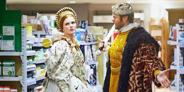 henry the 8th meets anne boleyn in aisle 7