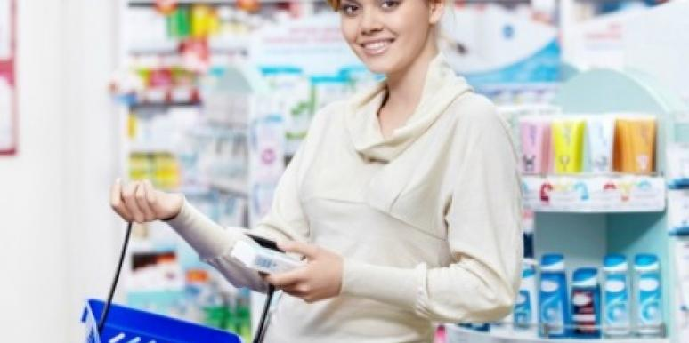 Woman at drug store