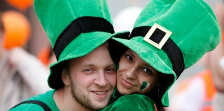 couple celebrating St. Patrick's Day