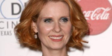 cynthia nixon short man with boobs